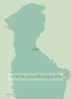 52071 Северная часть залива Боне (Масштаб 1:250 000)