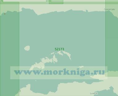 52173 Восточная часть залива Томини (Масштаб 1:250 000)