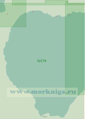 52174 Западная часть залива Томини (Масштаб 1:250 000)