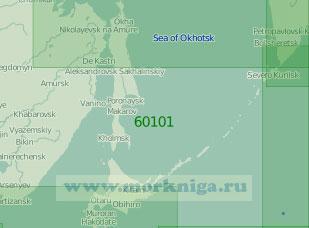 60101 Южная часть Охотского моря (Масштаб 1:2 000 000)
