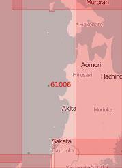 61006 От острова Окусири до острова Садо (Масштаб 1:500 000)