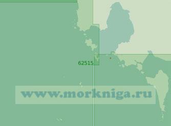 62515 Подходы к порту Кампонгсаом (Масштаб 1:200 000)