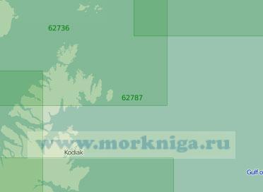 62787 Северо-восточное побережье острова Кадьяк с островами Афогнак и Шуяк (Масштаб 1:250 000)