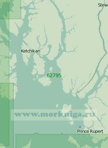 62795 От полуострова Кливленд до острова Стивенс (Масштаб 1:250 000)