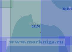 63102 Северная часть залива Анива (Масштаб 1:100 000)