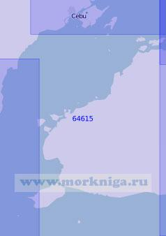 64615 Пролив Бохоль (Себу) (Масштаб 1:100 000)