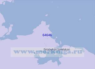 64646 Порт Сандакан с подходами (Масштаб 1:100 000)