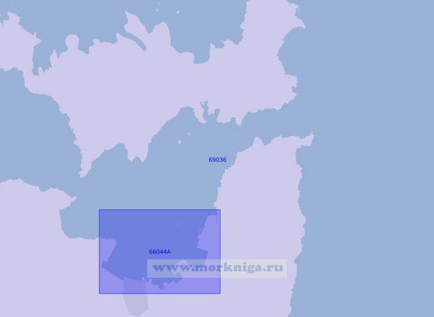 69036 Южная часть бухты Нанао (Масштаб 1:20 000)