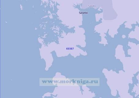 69387 Порт Сасебо (Масштаб 1:15 000)