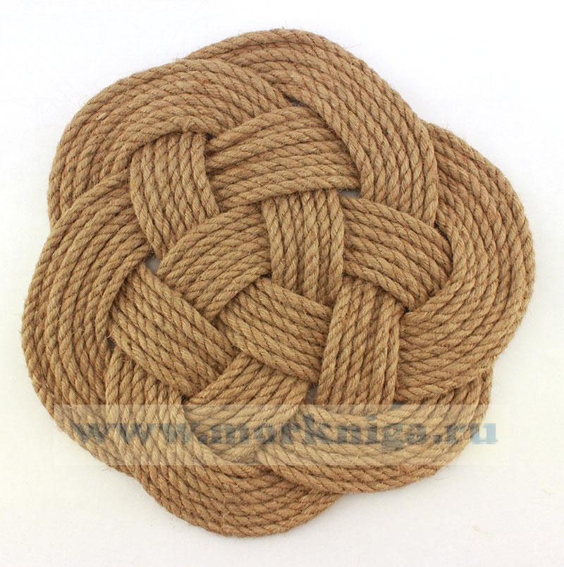 Коврик плетеный средний морской