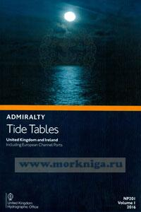 Admiralty Tide Tables. NP201. Volume 1. 2016. United Kingdom and Ireland