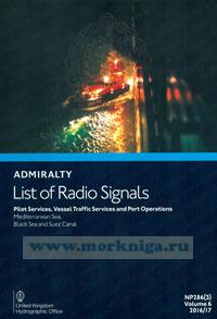 Admiralty list of radio signals. Vol 6. NP286(3) (ALRS). Pilot services, vessel traffic services and port operations. Mediterranean Sea, Black Sea and Suez Canal. 2016/2017