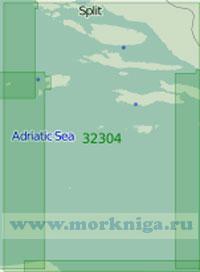 32304 От острова Ластово до острова Муло (Масштаб 1:200 000)