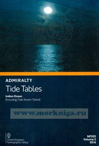 Admiralty Tide Tables. NP203. Volume 3. 2016. Indian Ocean