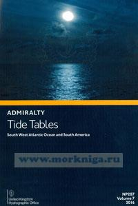 Admiralty Tide Tables. NP207. Volume 7. 2016. South West Atlantic Ocean and South America