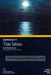 Admiralty Tide Tables. NP204. Volume 4. 2016. Soush Pacific Ocean