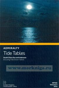 Admiralty Tide Tables. NP205. Volume 5. 2016. South China Sea and Indonesia