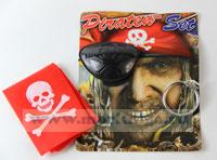 Повязка на глаз пиратская с платком (в ассортименте)