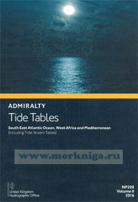 Admiralty Tide Tables. NP208. Volume 8. 2016. South East Atlantic Osean, West African and Mediterranean
