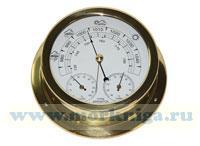 Барометр-термометр-гигрометр (полированная латунь) 150*120*45мм