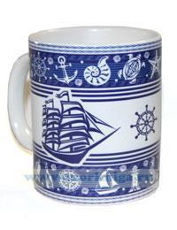 Кружка Морские символы и парусники