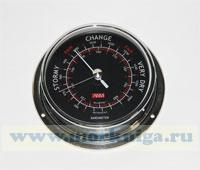 Барометр (черный циферблат, полированная и хромированная латунь) 120*95*40мм