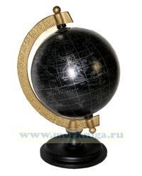 Глобус папье-маше малый на деревянном основании