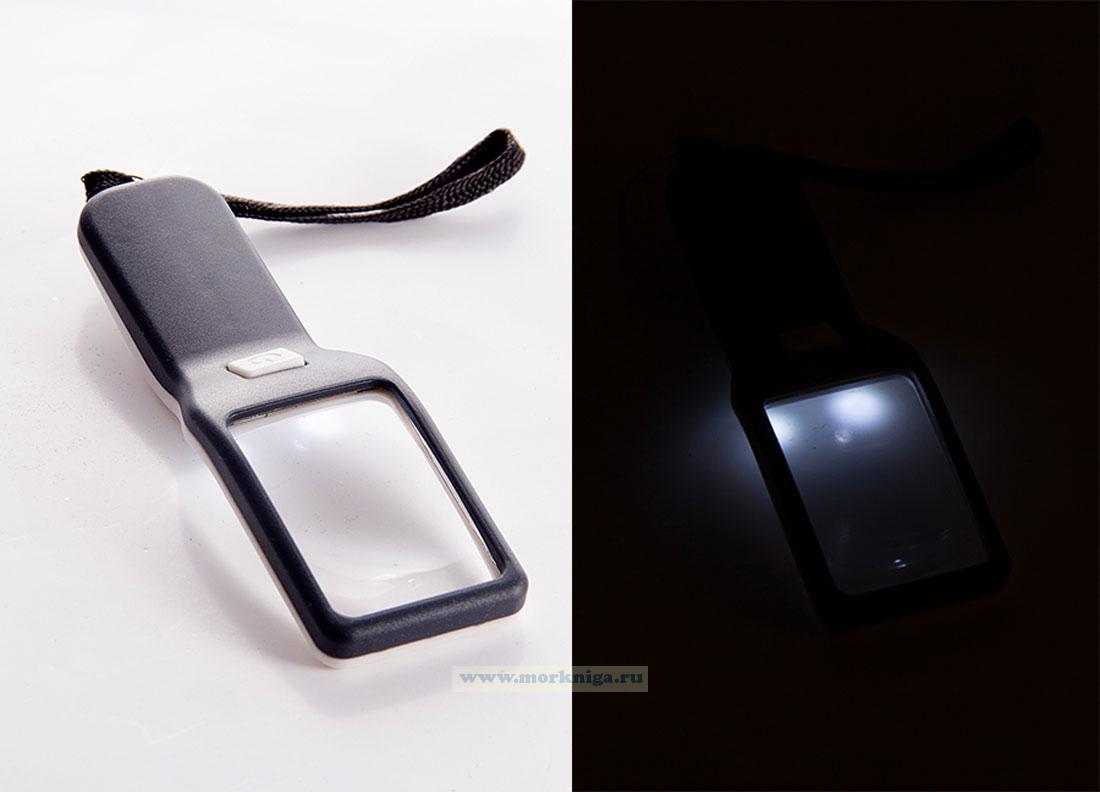 Лупа с LED-подсветкой 17*5*2см