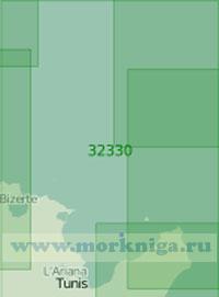 32330 От мыса Эт-Тиб (Кап-Бон) до порта Бизерта (Масштаб 1:200 000)