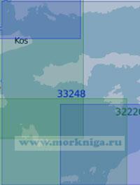 33248 От острова Кос до острова Родос (Масштаб 1:100 000)