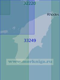 33249 Остров Родос с подходами (Масштаб 1:100 000)