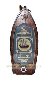 Коллаж-кофр для бутылки Морская романтика