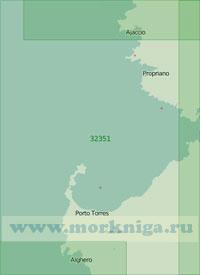 32351 Подходы к проливу Бонифачо с запада (Масштаб 1:200 000)