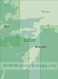 32220 От залива Гюллюк (Мандалья) до острова Родос (Масштаб 1:200 000)