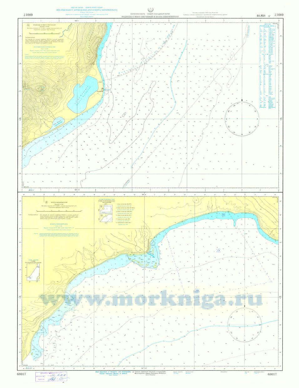 68017 Подходы к мысу Песчаный и бухта Неприметная