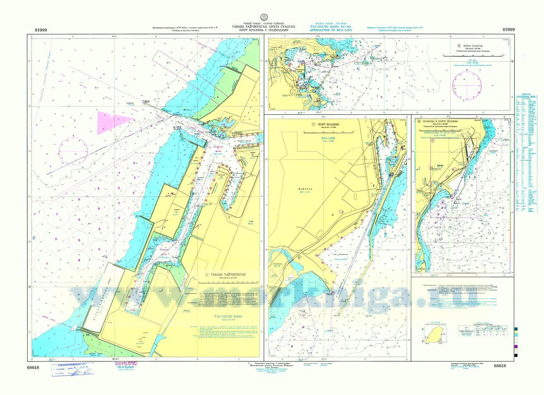68618 Гавань Тайчжунган, бухта Суаоган, порт Хуалянь с подходами