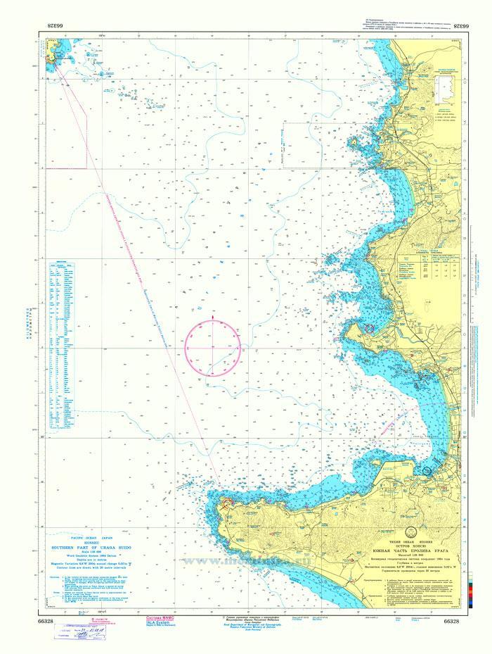 66328 Южная часть пролива Урага (Масштаб 1:25 000)