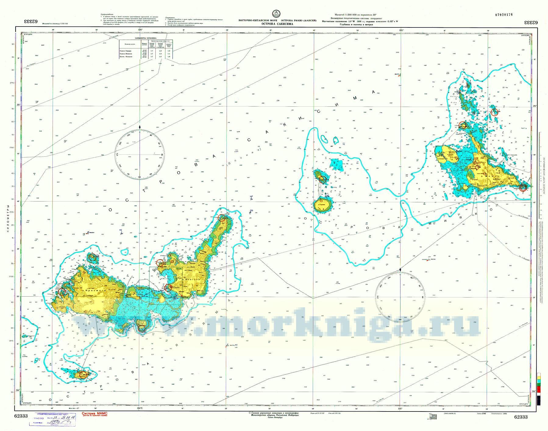 62333 Острова Сакисима (Масштаб 1:200 000)