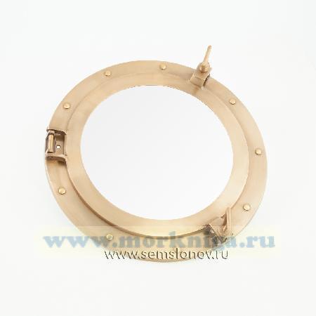 Иллюминатор 14 дюймов с зеркалом. Диаметр зеркала 24 см