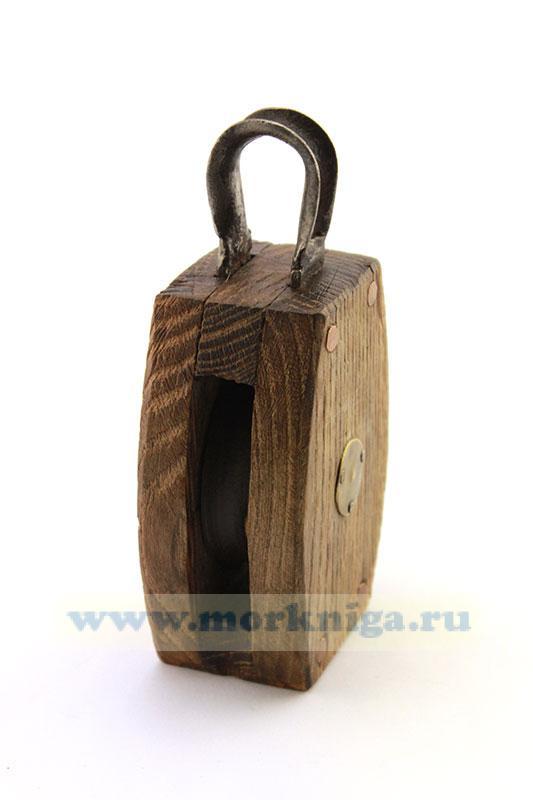 Блок деревянный одношкивный (105 х 75 мм)