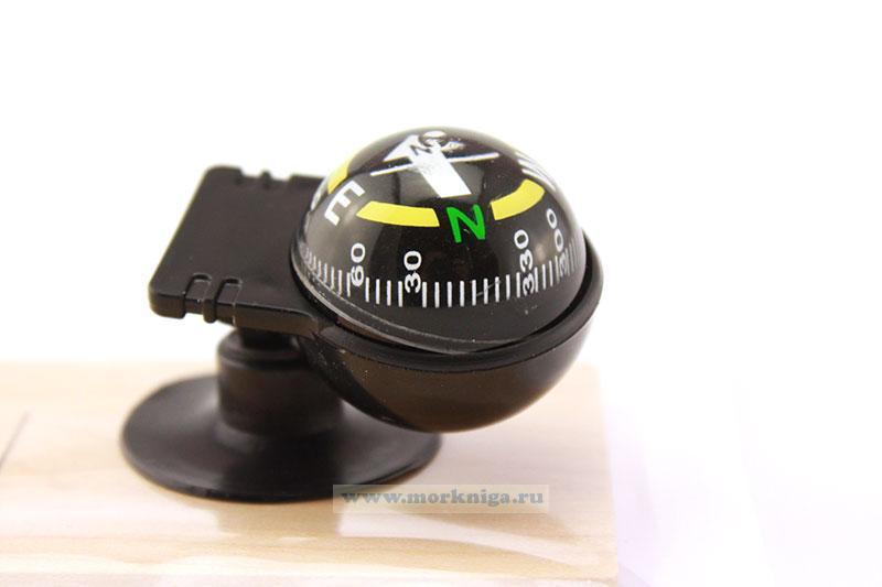 Компас шар на присоске поворотный