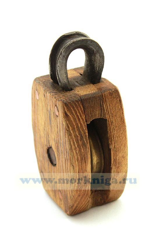 Блок деревянный одношкивный (75 х 55 мм)