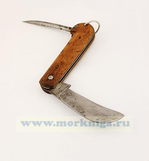 Нож боцманский с деревянной ручкой