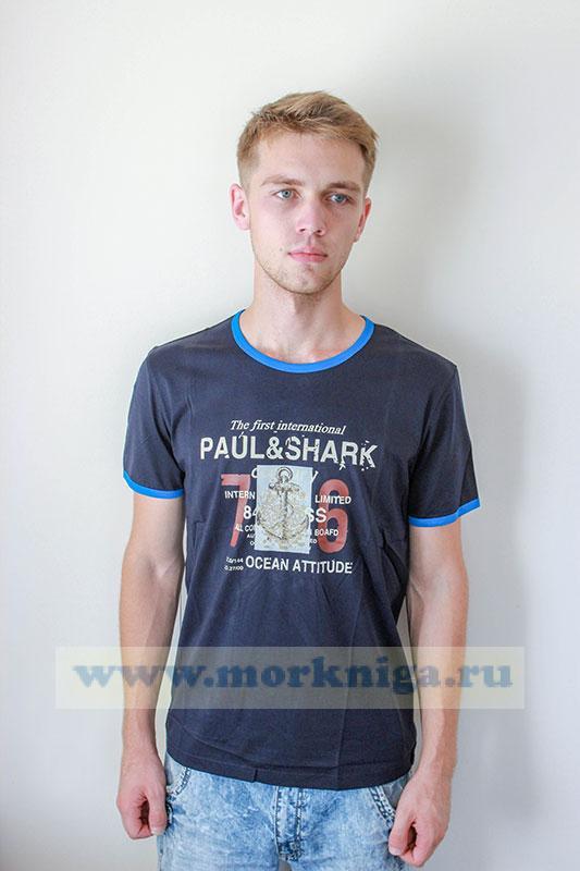 Футболка PAUL&SHARK Синяя
