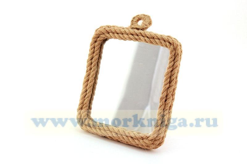 Зеркало в плетеной раме (фигурная петелька)