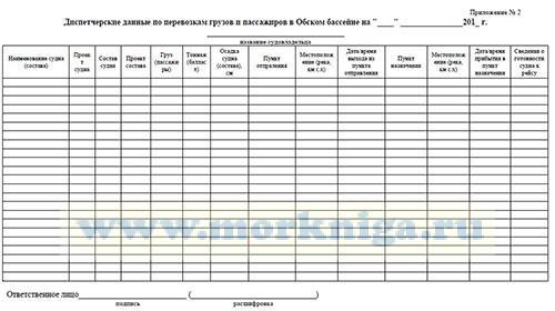 Диспетчерские данные по перевозкам грузов и пассажиров в Обском бассейне