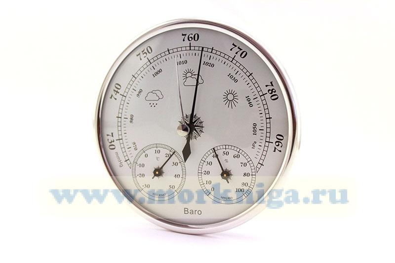 Барометр-термометр-гигрометр 130х37 мм