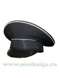 Фуражка уставная ВМФ размер 58 (черная с белым кантом) с высокой тульей