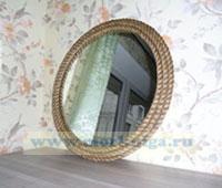 Зеркало в раме из 3-х канатов