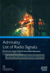 Admiralty list of radio signals. Vol 6. NP286(2) (ALRS). Pilot servises, vessel traffio, servises and port operation. Europe, Arctic and Baltic coasts, including Iceland and Faeroe Islands 2016/2017